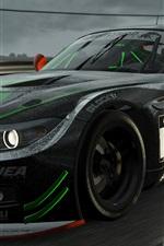BMW Z4 supercar, chuva, gotas de água