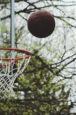 Preview iPhone wallpaper Basketball, throw ball, bokeh