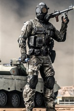 Preview iPhone wallpaper Battlefield 4, soldiers, grenade launcher