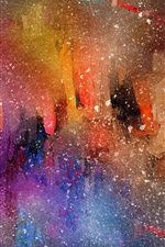 Preview iPhone wallpaper Beautiful watercolor painting, abstract style, spots
