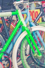 Preview iPhone wallpaper Bikes parking, colorful
