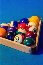 Preview iPhone wallpaper Billiards, colorful balls, triangle