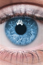Preview iPhone wallpaper Blue eyes