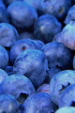 Preview iPhone wallpaper Blueberries macro, fruit photography