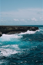 Preview iPhone wallpaper Bonaire island, Caribbean, Netherlands, sea