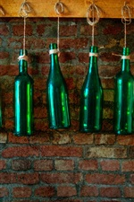 Preview iPhone wallpaper Bottles, wall