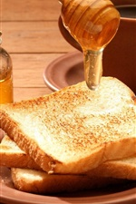 Preview iPhone wallpaper Bread, honey, food