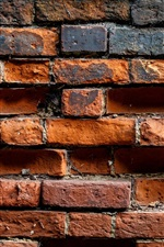 Preview iPhone wallpaper Bricks wall