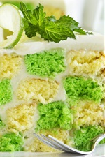 Preview iPhone wallpaper Cake, mint, lime, dessert