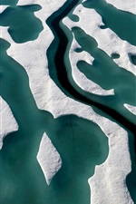Preview iPhone wallpaper Canada, Nunavut, Ellesmere island, snow, top view