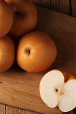 iPhone обои Китайская груша, плод крупный план