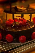 Chocolate cake, strawberry