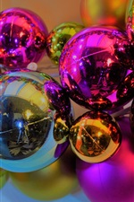 Preview iPhone wallpaper Christmas balls, decoration