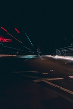 Preview iPhone wallpaper City, night, road, light lines