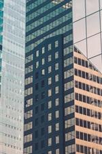 City, skyscrapers, glass windows, Chicago, USA