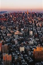 Preview iPhone wallpaper City top view, skyscrapers, buildings