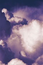 Preview iPhone wallpaper Clouds, sky, dusk
