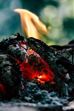 Preview iPhone wallpaper Coal, fire