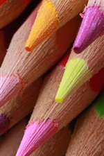 Preview iPhone wallpaper Colored pencils macro photography, pointed