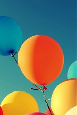 Preview iPhone wallpaper Colorful balloons, free to flying