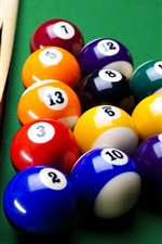 Preview iPhone wallpaper Colorful billiard, balls