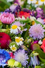 Preview iPhone wallpaper Colorful flowers, bouquet
