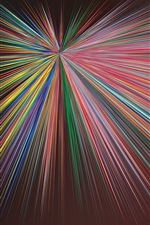 Preview iPhone wallpaper Colorful rays, abstract picture