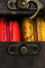 Preview iPhone wallpaper Cookies, colorful macaron, box