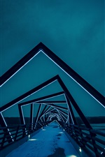 Creative bridge, architecture, backlight, night