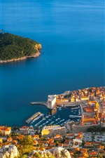 Preview iPhone wallpaper Croatia, Dubrovnik, sea, island, houses, buildings