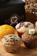 Preview iPhone wallpaper Cupcakes, muffins, food