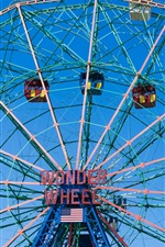 Preview iPhone wallpaper Ferris wheel, entertainment, USA