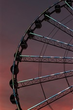 Preview iPhone wallpaper Ferris wheel, night, lights