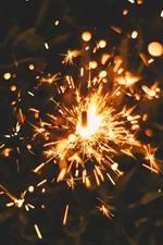 Fireworks, sparks, night