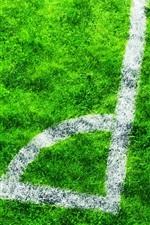 Preview iPhone wallpaper Football field, grass