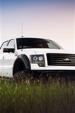 Preview iPhone wallpaper Ford F-150 white car front view