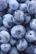 Preview iPhone wallpaper Fresh blueberries, fruit