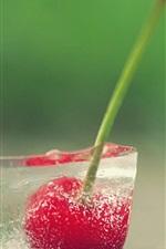 Preview iPhone wallpaper Frozen cherries