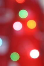 iPhone обои Круговые круги, свет, красный фон
