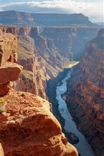 Preview iPhone wallpaper Grand Canyon, United States, river, rocks, valley, sunshine