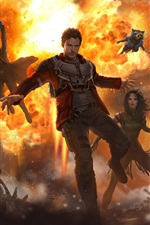 Preview iPhone wallpaper Guardians of the Galaxy Vol. 2, Marvel art picture
