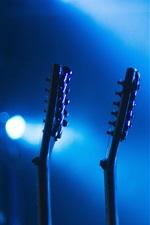 Preview iPhone wallpaper Guitar, music, bokeh
