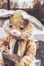 Preview iPhone wallpaper Hare costume