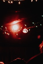 iPhone fondos de pantalla Luces de vacaciones, brillo, noche