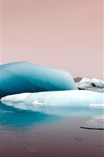 Preview iPhone wallpaper Ice, sea, dusk, winter