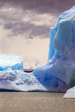 Preview iPhone wallpaper Iceberg, sea, dusk