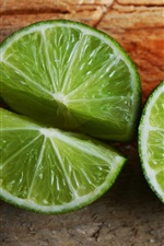 Preview iPhone wallpaper Lime, green lemon, fruit close-up