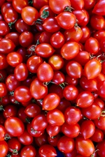 Preview iPhone wallpaper Little red tomatoes, vegetables