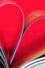 iPhone fondos de pantalla Amor corazón, libro, papel