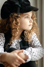 Preview iPhone wallpaper Lovely curly hair little girl